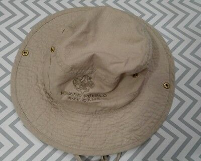 Youth Bucket Hat Boy Scout Adjustable Chin Strap Tan