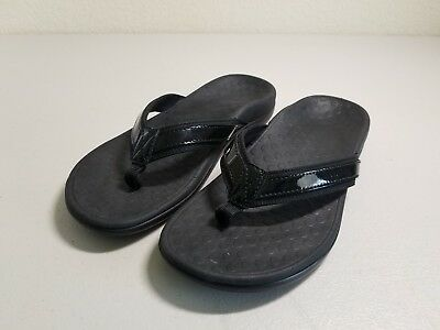 4044fc62185 Vionic Orthaheel Tide II Women Size US 7 Flip Flop Thong Sandals Black SM