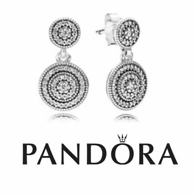 5d6e37434 AUTHENTIC PANDORA SILVER Radiant Elegance Drop Earrings - £24.50 ...