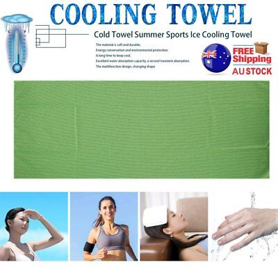 Cold Towel Summer SportIce Cooling Towel Hypothermia Cool Towel 90*35CM GH C@FW