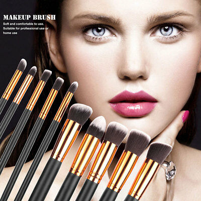 10pcs Make up Brushes Blusher Face Powder Foundation Eyeshadow Kabuki set