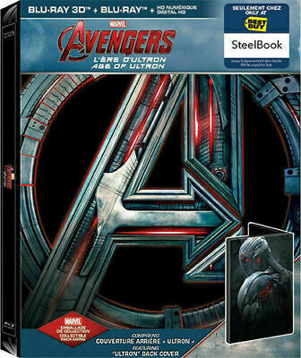The Avengers: Age of Ultron - 3D/2D Limited Steelbook (Ultron) [Blu-ray] New!!