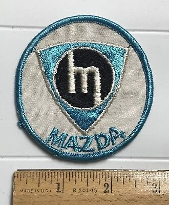 Mazda Car Automobiles Old Vintage Style M Logo Round Embroidered Patch