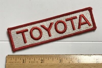 Toyota Red + White Logo Car Automobile Embroidered Uniform Patch Badge