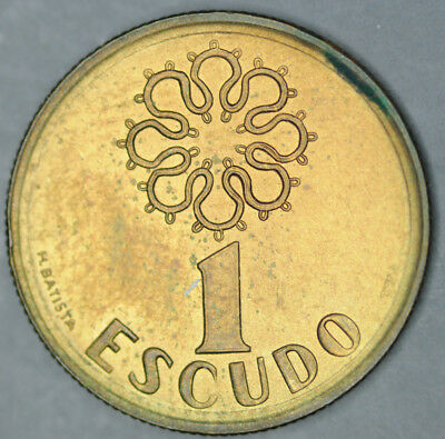2000 Portugal 1 Escudo Coin Unc from mint pack BU Nice KM# 631
