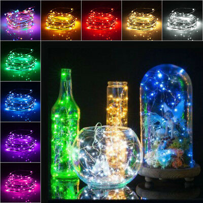 20/50/100 LEDs Battery Operated Mini LED Copper Wire String Party Fairy Lights