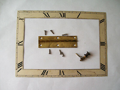 Vintage Oblong face from a mantle clock / hinge / door catch spare parts