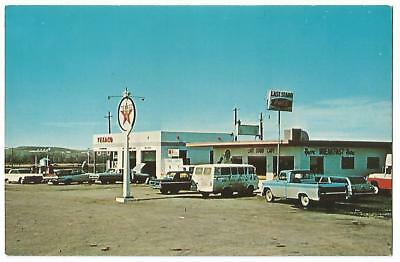 Crow Agency Montana MT(Big Horn Co.) Last Stand Cafe & Texaco Gas Station 1960's