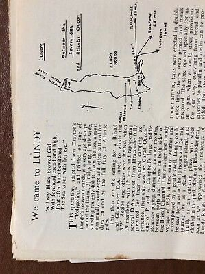 L1j Ephemera 1950s Article We Came To Lundy Don Browning