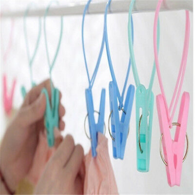 12x Strong Mini Clothes Pegs Clips Travel Hanger Clothes Drying Rack Windproof