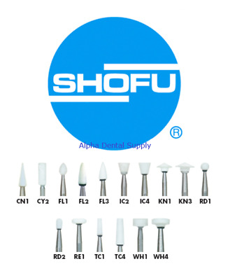 Shofu Dental Dura-White Finishing Polishing Stones Select Shank/Shape 12/Box
