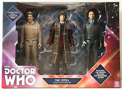 Doctor Who THE 1970s Collector Figure Set B&M EXCLUSIVE (Doctor/Brigadier/Auton)