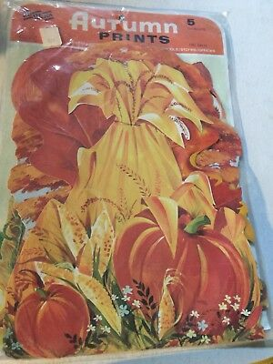 Eureka Old Vintage Autumn Fall Thanksgiving Halloween Diecut Diecuts MIP Sealed