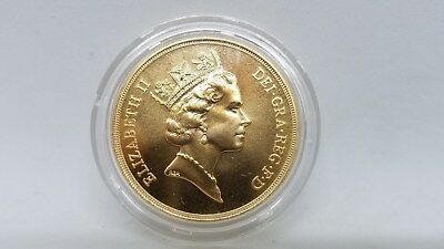 1985 Great Britain UK5 Pounds Sovereign Solid 22kt Gold39.94 grams 1.4 ounces