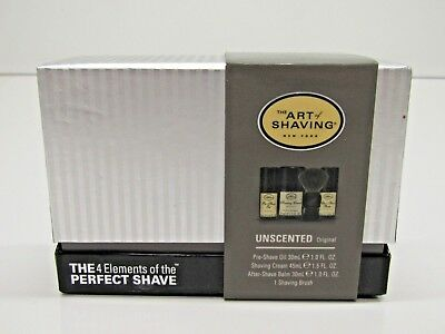 The Art of Shaving - The Mid-Size Kit - Unscented - 4 pc Set