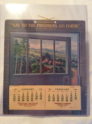 Watchtower Jehovah 1952 Compleat Calendar