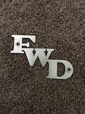 FWD Seagrave Fire Truck emblem nameplate. Fire Apparatus.
