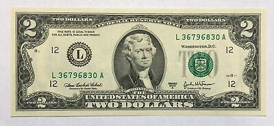 2003A $2 SAN FRANCISCO Federal Reserve Note, NEW & UNCIRCULATED BANKNOTE