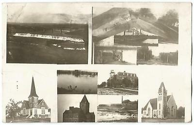 Great Falls Montana MONT MT ~ Multi-view RPPC Real Photo Postcard 1909