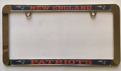 New England Patriots Chrome License Plate Frame, Official NFL Product