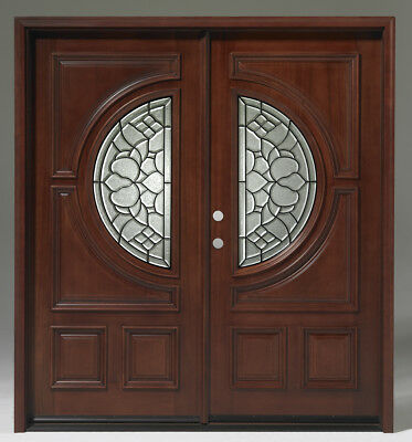 Limited Qty Sale! Solid Wood Mahogany Front Unit Pre-hung&Finished DMH7587-6GL22