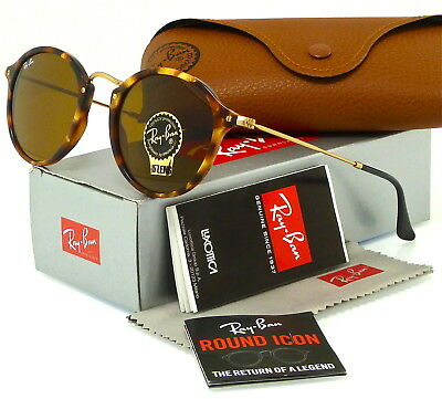 02ca084f9a2 Ray-Ban Round Fleck Tortoise and Gold l Brown Classic B-15 RB2447 1160