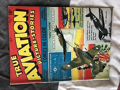 1943 True Aviation Pictures-Stories #7 VG+ to -FI (4.5-5.0) condition