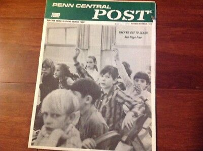 October November 1972 Penn Central Post Employee Magazine
