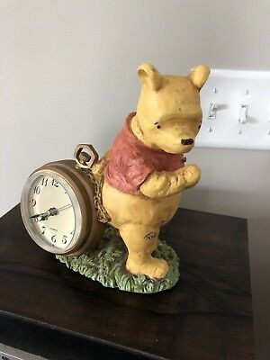 RARE VINTAGE DISNEY CHARPENTE CLASSIC WINNIE THE POOH CLOCK Tested Works
