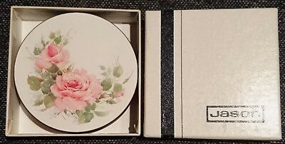 COASTERS SET of SIX 'ROSE ELEGANCE' by JASON - Pretty Shabby Chic LOOK!