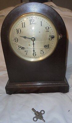 Antique vintage Seth Thomas large beehive mantle clock working 4 chime rods