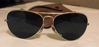 ea0afb43d5 Vintage Bausch   Lomb Ray-Ban Gold Tone Aviator Sunglasses 58014   Case
