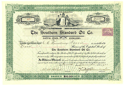 Southern Standard Oil Company. Stock Certificate