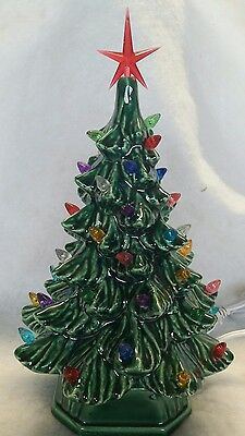 Ceramic Christmas Green Tree made from a Vintage mold..  made in USA