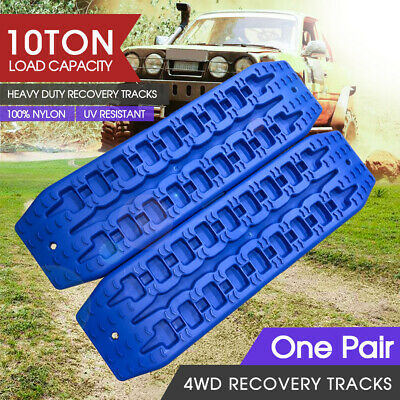 2018 NEW Pair Recovery Tracks Sand Track 10T Sand / Snow / Mud Ladders 4WD Blue