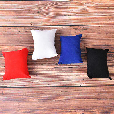 4pcs 4colors red blue white black velvet bracelet watch jewelry display pillowSY