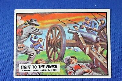 1962 Topps Civil War News - #14 Fight To the Finish - Ex Condition