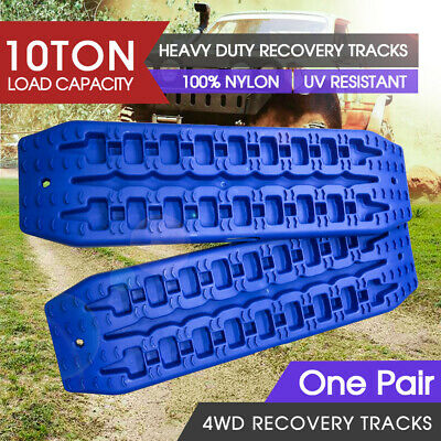 Pair Recovery Tracks Sand Track 2pc 10T Sand / Snow / Mud Trax 4WD Blue NEW