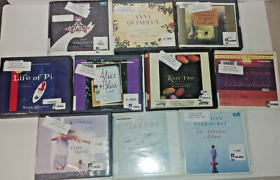 general Fiction Audio Books Lot of 10 on CD FREE SHIPPING Unabridged A-22