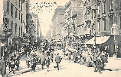 C07-5455, Essex And Hester St. New York, Ny. C1909,