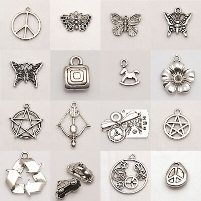 Beads Findings size Silver Charms Silver Jewelry Tibetan Pendant Wholesale Lot