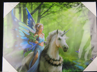 NEW DESIGN Anne Stokes  realm of Enchantment Large 40x30cm Fairy Canvas Wall Art