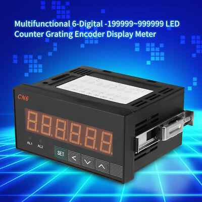 Multifunctional 6-Digital LED Counter Grating Encoder Display Meter Relay AC220V