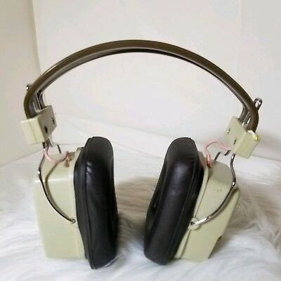 Vintage Realistic Twin Speaker Am Headphone Radio 5 Transistor Working Headset