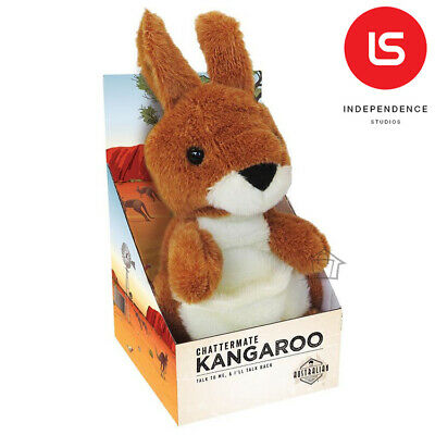 NEW Chattermate - KANGAROO Repeats Everything You Say Plush Toy Talking Moving