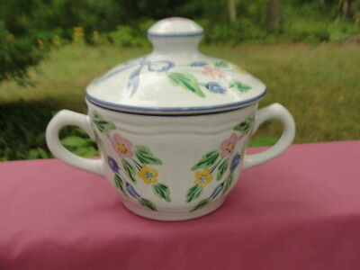 HEREND VILLAGE Pottery, Hungary - BOW Pattern - SUGAR BOWL