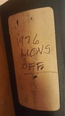 NFL Team Issued / Used1976 Detroit Lions Offensive Play Book EXTREMELY RARE!