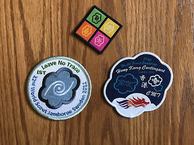 Lot of 3 2011 World Scout Jamboree Patches IST Hong Kong Four Seasons
