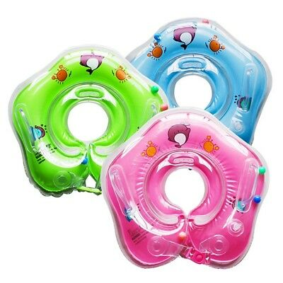 Baby Swimming Neck Float Inflatable Adjustable Ring Safety Age 1-18 Months UK