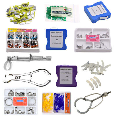 Dental TOR VM Sectional Contoured Matrice Matrix Ring & 40 Add-On Wedges+ Plier